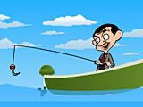 Мистер Бин рыбалка