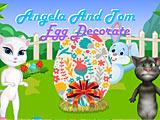 Том и Анжела красят пасхальные яйца
