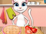 Анжела готовит томатный пирог