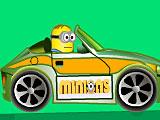 Миньоны на машине