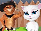 Анжела и Кот в сапогах