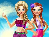 Летний отпуск Эльзы и Анны