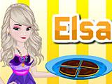 Эльза готовит брауни с сыром