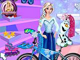 Эльза и Олаф собирают велосипед
