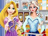 Эльза и Рапунцель в магазине