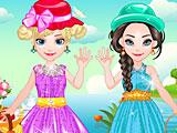 Холодное сердце: малышка Эльза и Анна на пикнике