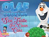 Олаф готовит торт-мороженое Черепаха