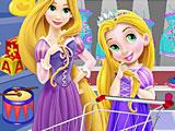 Рапунцель и мама в магазине