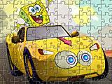 Спанч Боб в 3Д на машине пазл