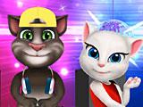 Том и Анжела на дискотеке