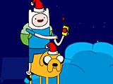 Фин и Джейк ловят подарки