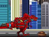Трансформеры диноботы битва в городе