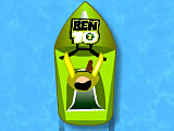 Бен 10 гонки на лодке