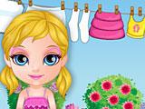 Малышка Барби стирка