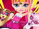 Малышка Барби раненый супергерой
