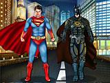 Бэтмен против Супермена одевалки