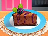 Кухня Сары шоколадный чизкейк с ежевикой