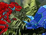 Роботы динозавры драки