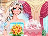 Эльза готовит свадебный торт