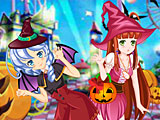 Аниме одевалки Хэллоуин