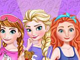Принцессы Диснея: королевская пижамная вечеринка Эльзы
