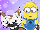 Миньоны Хэллоуин оригами кошка