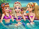 Принцессы Диснея: вечеринка у бассейна