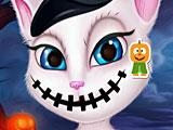 Говорящая Анжела Хэллоуин макияж