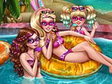 Супер Барби бассейн вечеринка