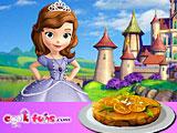 София готовит апельсиновый торт