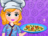 София Прекрасная готовит лапшу