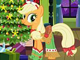 Пони Эпплджек Новый год
