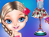 Малышка Барби фанат моды