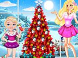 Барби и малышка Барби Новый год