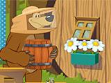 Маша и Медведь мед для Мишки