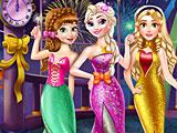 Принцессы Диснея новогодний бал