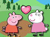 Свинка Пеппа поцелуи