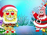 Одевалки Губка Боб Рождество