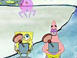 Губка Боб ловит медузы
