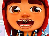 Сабвей серф лечит зубы
