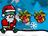 Новый год бег Деда Мороза