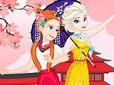 Эльза и Анна путешествуют по Азии