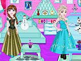 Холодное сердце: Анна и Эльза украшают спальню
