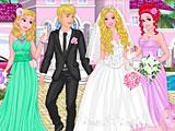 Принцессы Диснея свадьба Барби