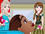 """Принцессы Диснея в парикмахерской """"Холодное сердце"""""""