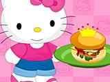 Хелло Китти готовит бургер