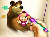 Маша и Медведь онлайн раскраска