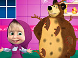 Маша и Медведь: дождливый день