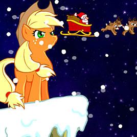 Пони Эпплджек спасает Рождество