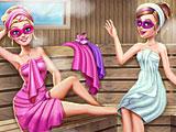 Супер Барби в сауне